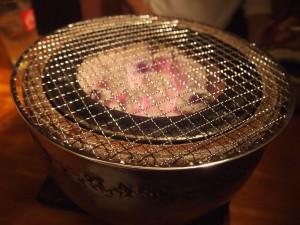 佐蔵炭火焼肉の七輪