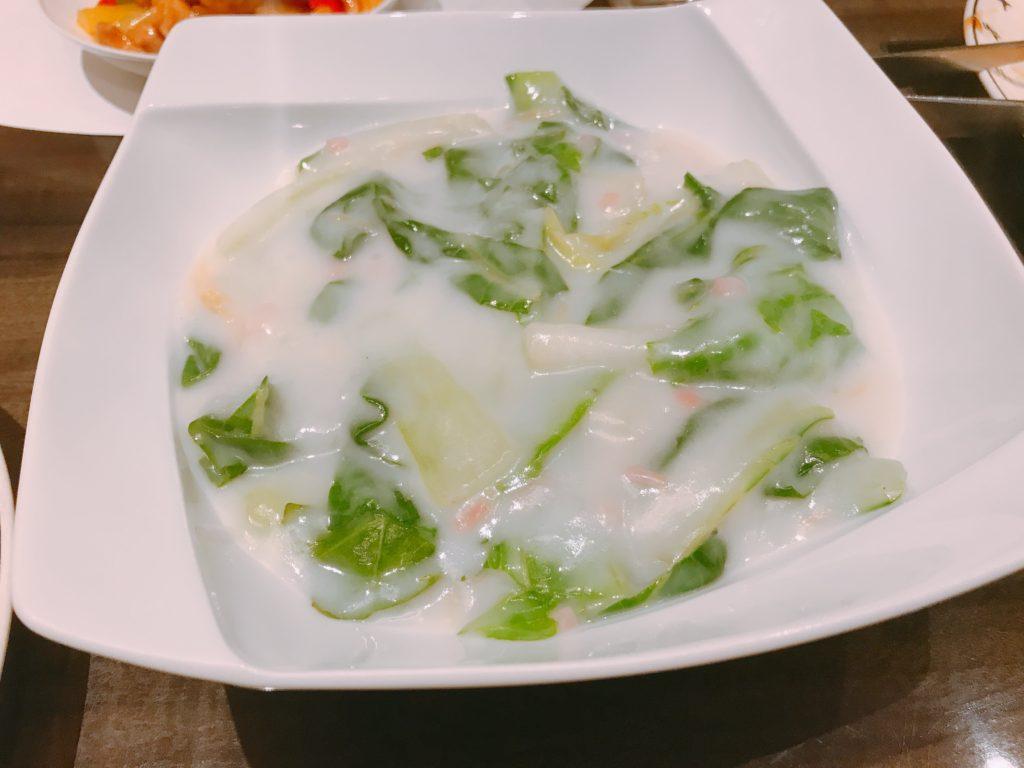 野菜と干し貝柱のクリーム煮